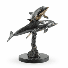 SPI Home Playful Dolphin Pair Sculpture
