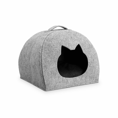 SPI Home Portable Pet Bed with Cat Head