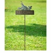 SPI Home Quail Welcome Sign on Stake