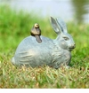 SPI Home Rabbit and Little Friend Garden Sculpture