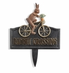 SPI Home Rabbit Crossing Garden Sign
