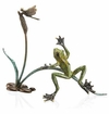 SPI Home Rainforest Frog with Dragonfly Sculpture