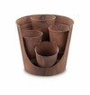 SPI Home Rustic Cutaway Planter for 4 inch D