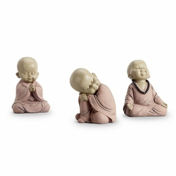 SPI Home Sitting Buddhist Monks Set of 3