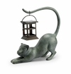 SPI Home Stretching Cat LED Garden Lantern