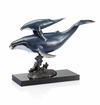 SPI Home Swiftwater Swim Whale and Calf Sculpture