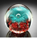 SPI Home Teal Explosion Sphere/Paperweight