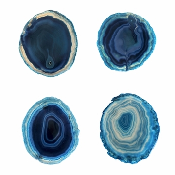 SPI Home Teal & White Agate Coasters Set of 4