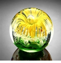 SPI Home Yellow Flower Sphere/Paperweight