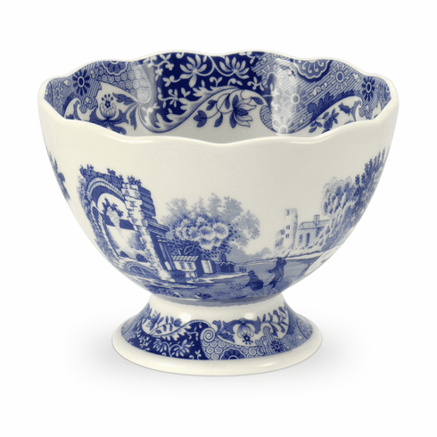 Spode Blue Italian Footed Bowl