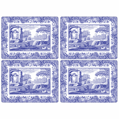 Spode Blue Italian Pimpernel Accessories Placemats Set of 4