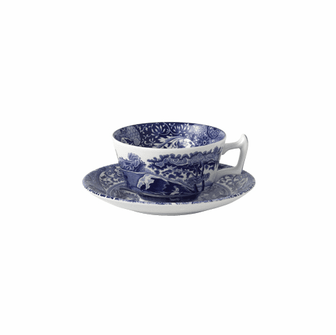 Spode Blue Italian Tea Cup & Saucer Set