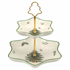 Spode Christmas Tree Sculpted Square Dish 1612372