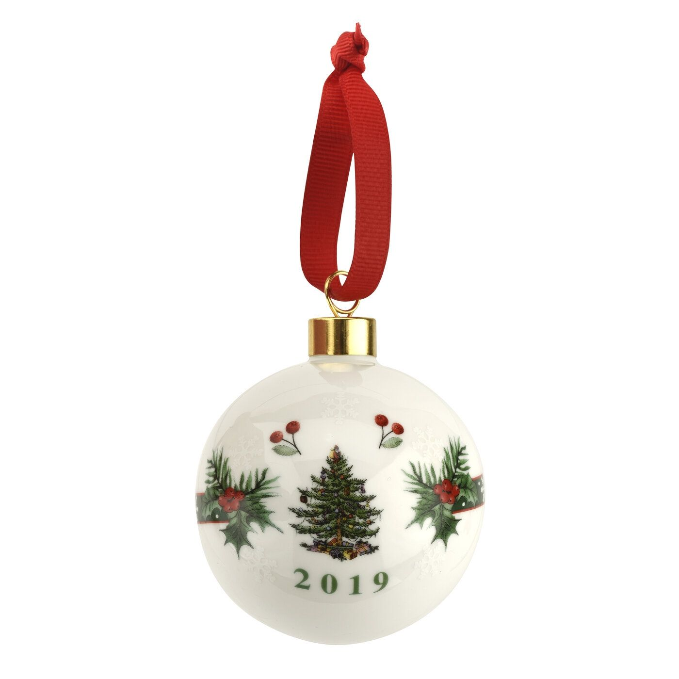 Spode Christmas Tree Annual Border 2019 Annual Bauble 14 99