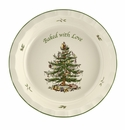 Spode Christmas Tree Bakeware & Oven to Table Pie Dish - Baked with Love