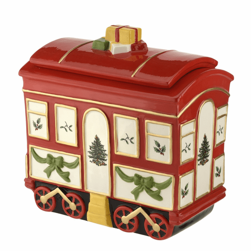 Spode Christmas Tree Figural Collection 2 Piece Christmas Tree Train Car with Lid