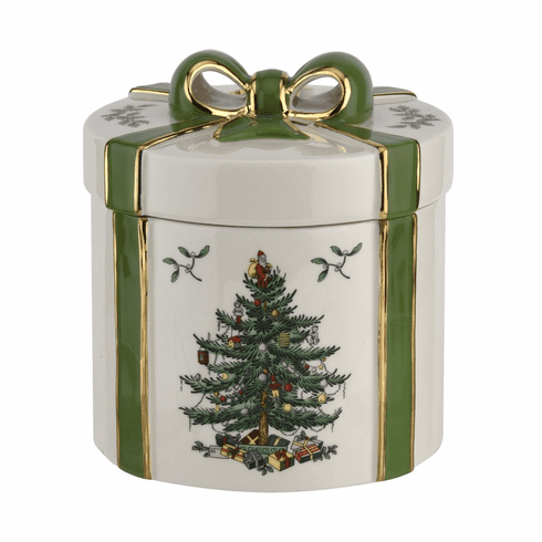 Spode Christmas Tree Figural Collection 2 Piece Gift Box Green