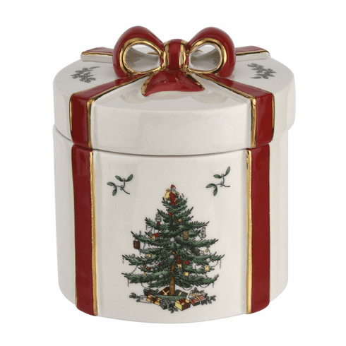 Spode Christmas Tree Figural Collection 2 Piece Gift Box Red