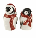 Spode Christmas Tree Figural Collection 2 Piece Penguin Salt and Pepper Set