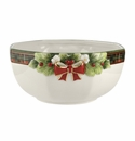 Spode Christmas Tree Figural Collection Figural Tartan Octagonal Bowl