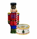 Spode Christmas Tree Figural Collection Nutcracker Candle Holder, Red