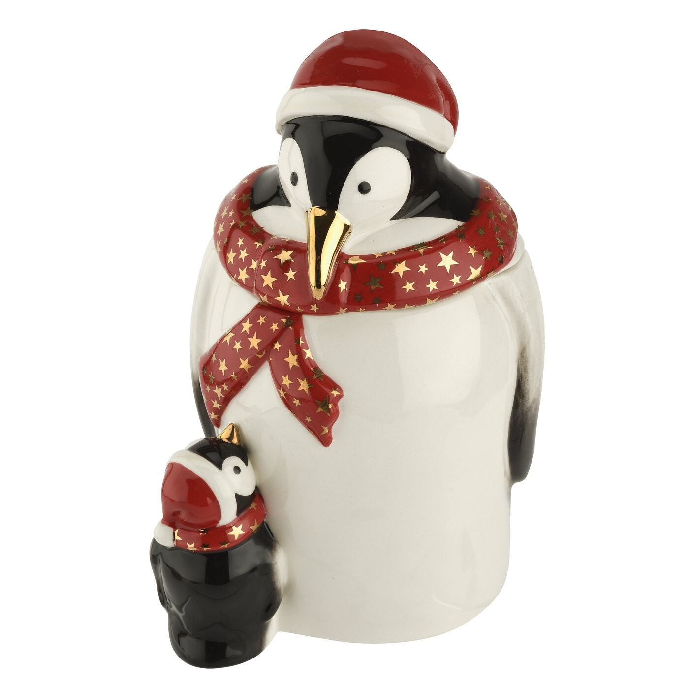 Spode Christmas Tree Candle Holder: Spode Christmas Tree Figural Collection Penguin Candy Jar