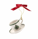 Spode Christmas Tree Ornaments Cup and Saucer Ornament