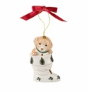 Spode Christmas Tree Ornaments Puppy In Boot Ornament