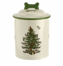 Spode Christmas Tree Pet Treat Canister