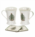 Spode Christmas Tree Pimpernel Gifts Mug and Coaster Set