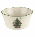 Spode Christmas Tree Serveware Flared Scalloped Bowl