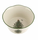 Spode Christmas Tree Serveware Flared Scalloped Bowl Medium