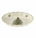Spode Christmas Tree Serveware Fluted Oval Server