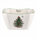 Spode Christmas Tree Serveware Large Square Bowl