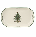 Spode Christmas Tree Serveware Rectangular Scalloped Tray