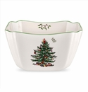 Spode Christmas Tree Serveware Small Square Bowl