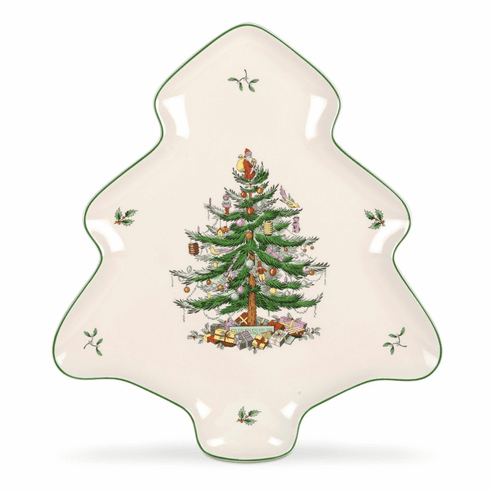 Spode Christmas Tree Shape Dish