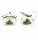 Spode Christmas Tree Sugar & Creamer Set