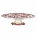 Spode Cranberry Italian Serveware Footed Cake Plate