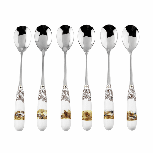 Spode Woodland Set of 6 Tea Spoons (Assorted Motifs)