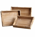 Staton Washed Oak Trays by Cyan Design