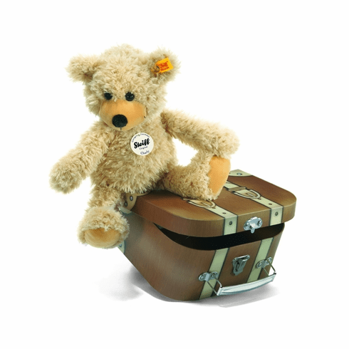 Steiff Charly Dangling Teddy Bear In Suitcase Beige