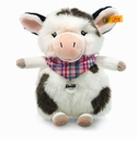 Steiff Cowaloo Spotted White and Black Stuffed Animal Small