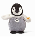 Steiff Flaps Baby Penguin Black and White and Grey Stuffed Animal