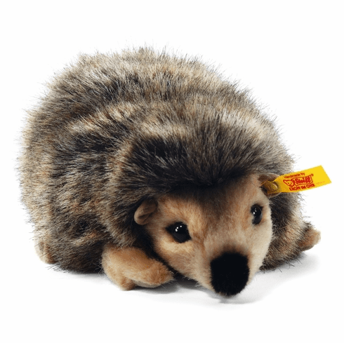 Steiff Joggi Hedgehog Mottled Brown Stuffed Animal