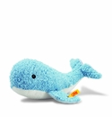 Steiff Sea Sweeties Will Whale With Squeaker Blue and White Stuffed Animal