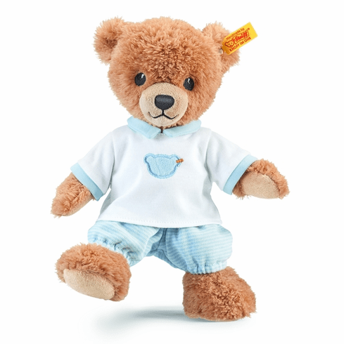 Steiff Sleep Well Bear Blue Stuffed Animal