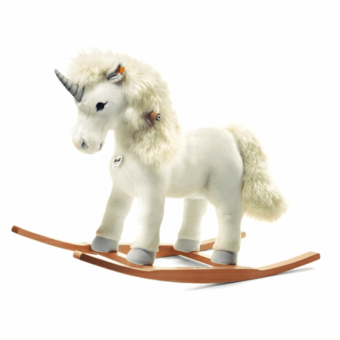Steiff Starly Riding Unicorn White
