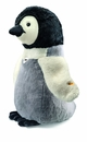 Steiff Studio Flaps Penguin Black and White and Grey Stuffed Animal