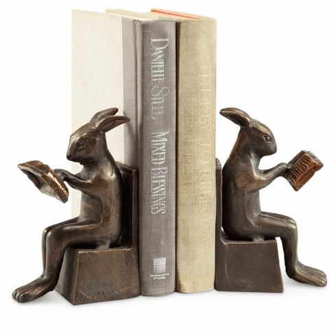 Studious Rabbit Bookends by SPI Home
